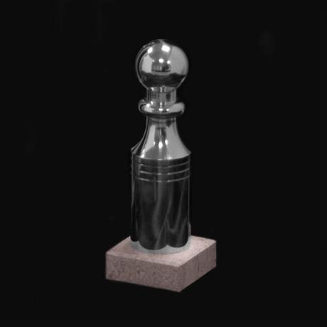 Modèle de quille standard sur socle en pierre couleur argent